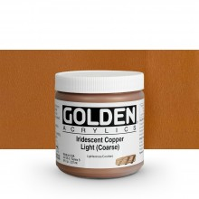 Golden : Heavy Body Acrylic Paint : 236ml : Copper Light Coarse Iridescent