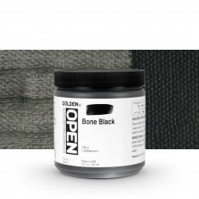 Golden : Open : Slow Drying Acrylic Paint : 236ml : Bone Black I