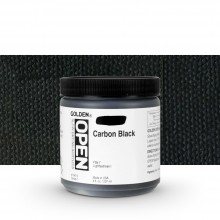 Golden : Open : Slow Drying Acrylic Paint : 236ml : Carbon Black I