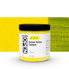 Golden : Open : Slow Drying Acrylic Paint : 236ml : Hansa Yelowl Opaque IV