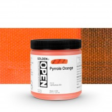 Golden : Open : Slow Drying Acrylic Paint : 236ml : Pyrrole Orange VIII