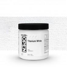 Golden : Open : Slow Drying Acrylic Paint : 236ml : Titanium White I