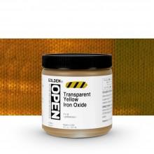 Golden : Open : Slow Drying Acrylic Paint : 236ml : Transparent Yellow Iron Oxide III