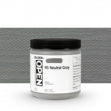 Golden : Open : Slow Drying Acrylic Paint : 236ml : Neutral Gray N5 I