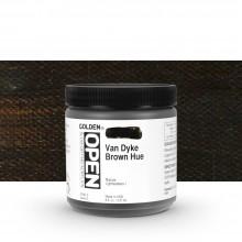 Golden : Open : Slow Drying Acrylic Paint : 236ml : Vandyke Brown Hue III