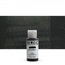 Golden : Fluid Acrylic Paint : 30ml (1oz) : Bone Black