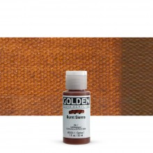 Golden : Fluid : Acrylic Paint : 30ml (1oz) : Burnt Sienna
