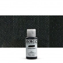 Golden : Fluid : Acrylic Paint : 30ml (1oz) : Carbon Black