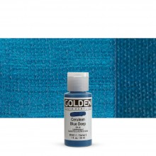 Golden : Fluid : Acrylic Paint : 30ml (1oz) : Cerulean Blue Deep