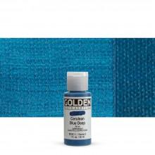 Golden : Fluid Acrylic Paint : 30ml (1oz) : Cerulean Blue Deep