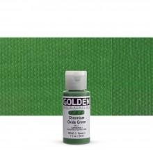 Golden : Fluid : Acrylic Paint : 30ml (1oz) : Chromium Oxide Green