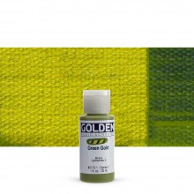 Golden : Fluid Acrylic Paint : 30ml (1oz) : Green Gold