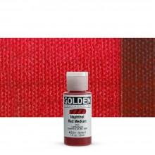 Golden : Fluid : Acrylic Paint : 30ml (1oz) : Naphthol Red Medium