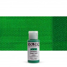 Golden : Fluid : Acrylic Paint : 30ml (1oz) : Permanent Green Light