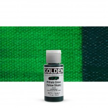 Golden : Fluid : Acrylic Paint : 30ml (1oz) : Phthalo Green Yellow Shade