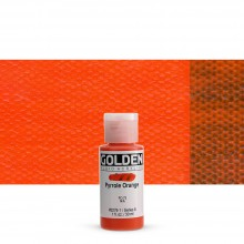 Golden : Fluid Acrylic Paint : 30ml (1oz) : Pyrrole Orange