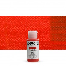 Golden : Fluid Acrylic Paint : 30ml (1oz) : Pyrrole Red Light
