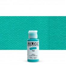 Golden : Fluid Acrylic Paint : 30ml (1oz) : Teal III