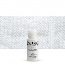Golden : Fluid : Acrylic Paint : 30ml (1oz) : Titanium White