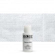 Golden : Fluid Acrylic Paint : 30ml (1oz) : Titanium White