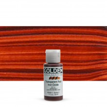 Golden : Fluid : Acrylic Paint : 30ml (1oz) : Transparent Red Iron Oxide
