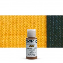 Golden : Fluid : Acrylic Paint : 30ml (1oz) : Transparent Yellow Iron Oxide