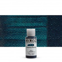 Golden : Fluid Acrylic Paint : 30ml (1oz) : Turquoise (Phthalo)