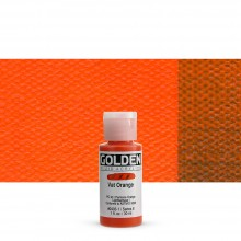 Golden : Fluid : Acrylic Paint : 30ml (1oz) : Vat Orange