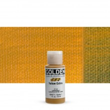 Golden : Fluid Acrylic Paint : 30ml (1oz) : Yellow Ochre