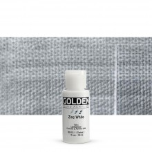 Golden : Fluid : Acrylic Paint : 30ml (1oz) : Zinc White