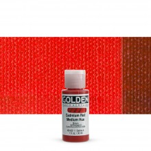 Golden : Fluid : Acrylic Paint : 30ml (1oz) : Cadmium Red Medium Hue