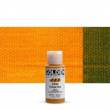 Golden : Fluid : Acrylic Paint : 30ml (1oz) : Indian Yellow Hue 30ml