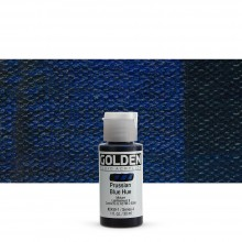 Golden : Fluid : Acrylic Paint : 30ml (1oz) : Prussian Blue Hue