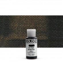 Golden : Fluid : Acrylic Paint : 30ml (1oz) : Van Dyke Brown Hue