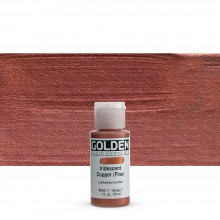 Golden : Fluid Acrylic Paint : 30ml (1oz) : Copper Fine Iridescent