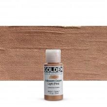 Golden : Fluid Acrylic Paint : 30ml (1oz) : Copper Light Fine Iridescent