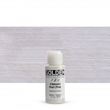 Golden : Fluid : Acrylic Paint : 30ml (1oz) : Pearl Fine Iridescent