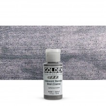 Golden : Fluid : Acrylic Paint : 30ml (1oz) : Stainless Steel Coarse Iridescent
