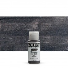 Golden : Fluid : Acrylic Paint : 30ml (1oz) : Micaceous Iron Oxide Iridescent