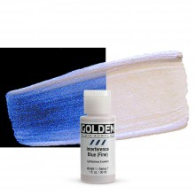 Golden : Fluid Acrylic Paint : 30ml (1oz) : Blue Fine Interference