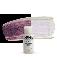 Golden : Fluid : Acrylic Paint : 30ml (1oz) : Red Fine Interference