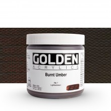 Golden : Heavy Body Acrylic Paint : 473ml : Burnt Umber