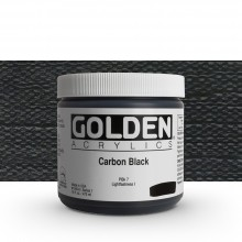 Golden : Heavy Body Acrylic Paint : 473ml : Carbon Black