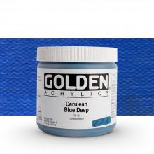 Golden : Heavy Body Acrylic Paint : 473ml : Cerulean Blue Deep