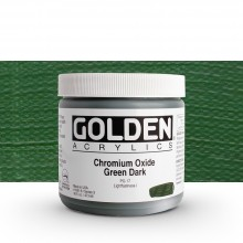 Golden : Heavy Body Acrylic Paint : 473ml Chrome Oxide Green Dark Iii New