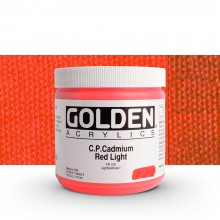 Golden : Heavy Body Acrylic Paint : 473ml : Pure Cadmium Red Light