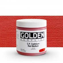 Golden : Heavy Body : Acrylic Paint : 473ml : Pure Cadmium Red Medium