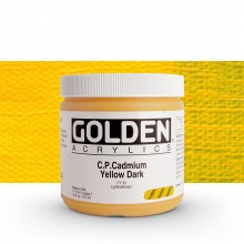 Golden : Heavy Body Acrylic Paint : 473ml : Pure Cadmium Yellow Dark