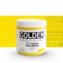 Golden : Heavy Body Acrylic Paint : 473ml : Pure Cadmium Yellow Medium