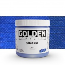 Golden : Heavy Body : Acrylic Paint : 473ml : Cobalt Blue